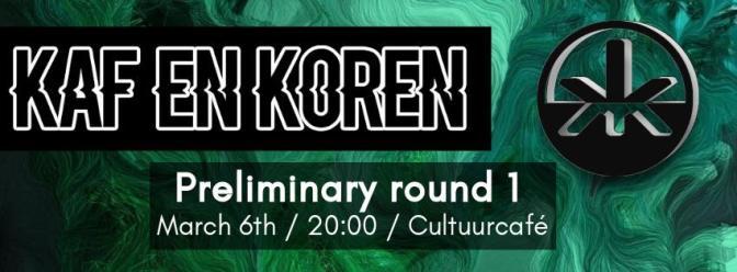 Voorronde 1: Kaf en Koren 2018: Sovay, The First Resort & The Velvet State